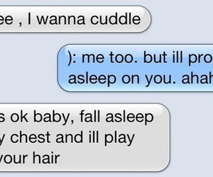 cuddle, love, and text image