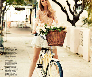 girl, bike, and blonde image
