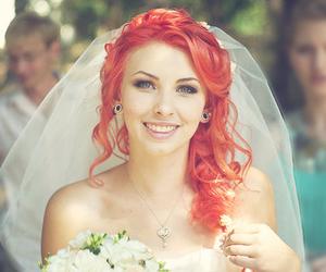 girl, hair, and wedding image
