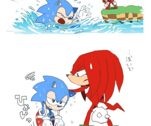 Sonic the hedgehog and knuckles the echidna image