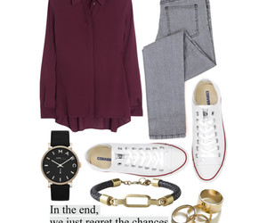 Braclet, burgundy, and clothes image