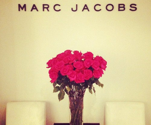 marc jacobs, rose, and flowers image