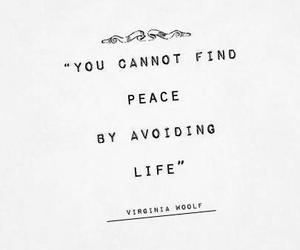 quote, life, and peace image