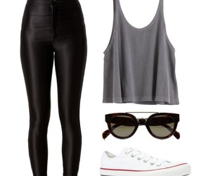 converse, outfit, and disco pants image