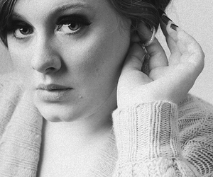 Adele, black and white, and daydreamer image