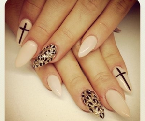cross, leopard, and nails image