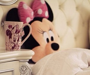 minnie mouse, cute, and bed image