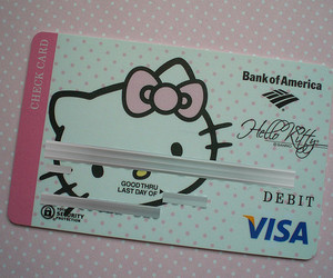 hello kitty, card, and pink image