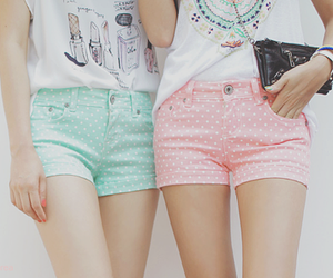 shorts, pink, and cute image