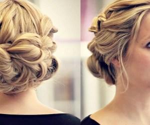 bridesmaid, diy, and hairstyle image