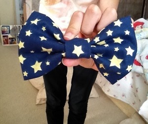 bow, stars, and tumblr image