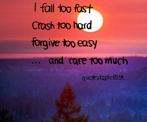 quotes, care, and fall image