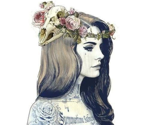 lana del rey, tattoo, and drawing image