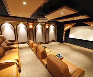 cinema, luxury, and home cinema image