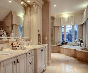 bathroom, home, and lights image