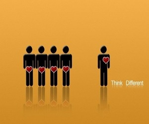 different and love image
