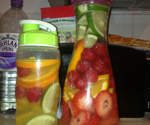 fitness, fruit, and water image