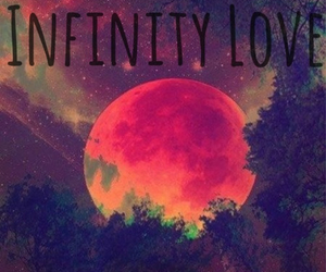 infinity, moon, and sky image