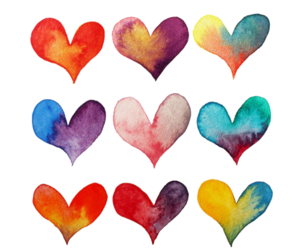 colour, hearts, and love image