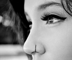 girl, eyes, and piercing image