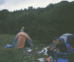 camping, tent, and boy image