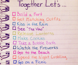 to do list and love image