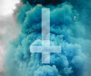 blue, cross, and grunge image