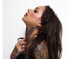 girl, tattoed, and tattoo image