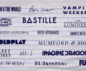 bastille, music, and coldplay image