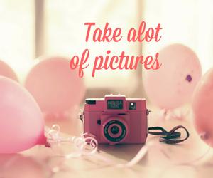 balloons, pink, and camera image