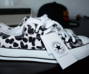 converse, shoes, and black and white image
