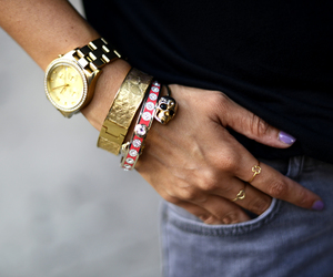 accessories, bag, and bracelets image