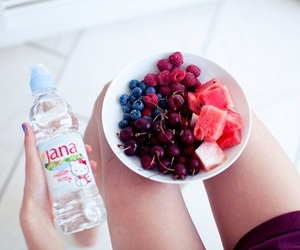 food, fruit, and water image