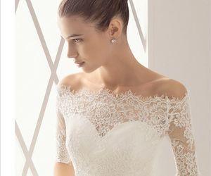 wedding, dress, and lace image
