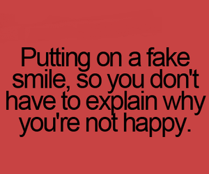 fake, quote, and smile image