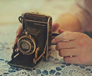 camera, hands, and retro image