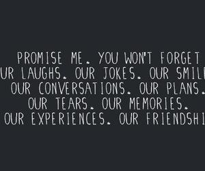 promise me, our friendship, and our smiles image