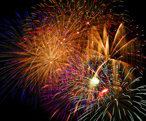 colors, pink, and fireworks image