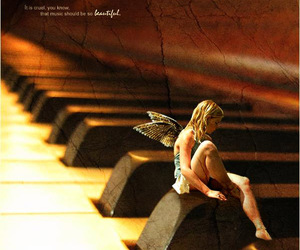 fairy, music, and piano image