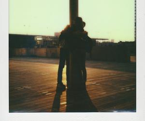 analog, hug, and polaroid image