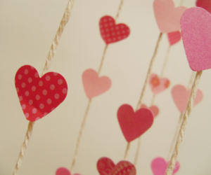 hearts, pink, and love image