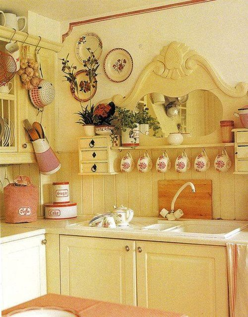 Vintage Shabby Chic Kitchen Untitled Via Tumblr