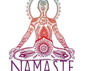 namaste, yoga, and peace image