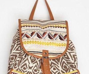 backpack, style, and aztec design image