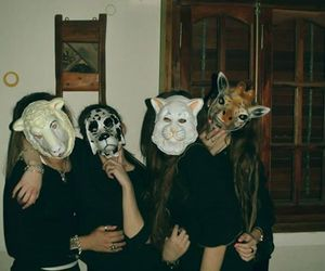 animals, girls, and party image