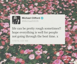 beauty, flowers, and michael image