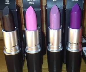 mac, lipstick, and purple image