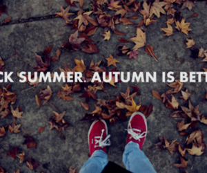 autumn, jeans, and leaves image