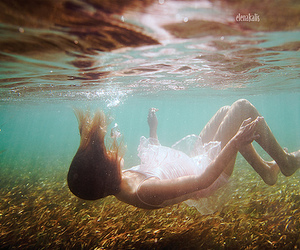 girl, water, and ocean image