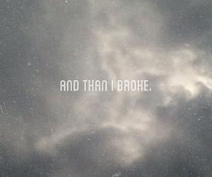 and, broke, and i image